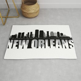 New Orleans Silhouette Skyline Rug