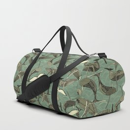 whales and waves aqua Duffle Bag
