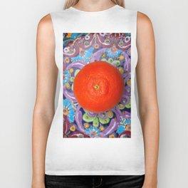 tangerine on a plate Biker Tank