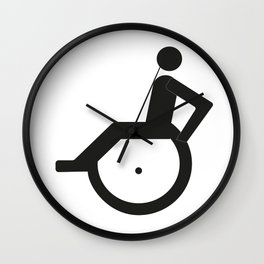 A sign for the toilet, invalid Wall Clock