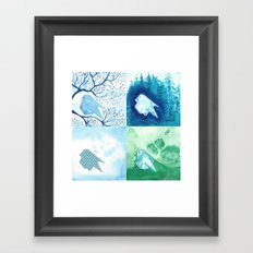 4 Birds Framed Art Print