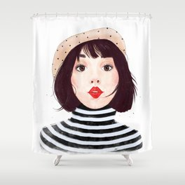 French woman Shower Curtain