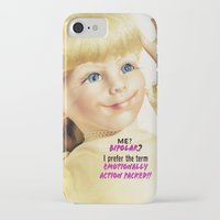 berserk iPhone & iPod Cases featuring Me? Bipolar? by Oh Margaret