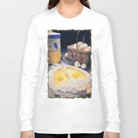 eggs Long Sleeve T-shirts featuring Eggs by Richard McGee