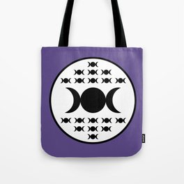 Triple Goddess Full Moon - on Ultra Violet Tote Bag