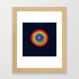 Bulls Eye  to love Framed Art Print