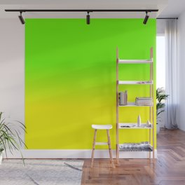 Neon Green and Neon Yellow Ombré  Shade Color Fade Wall Mural