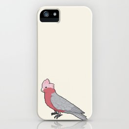 Pixel / 8-bit Parrot: Galah Cockatoo iPhone Case