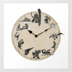 FINAL FANTASY CLOCK Art Print