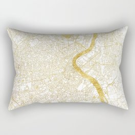 Bordeaux Map Gold Rectangular Pillow