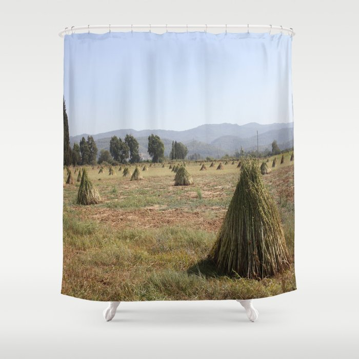 Sesame Crop And Harvest Shower Curtain By Taiche