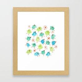 Scribble Birds Framed Art Print