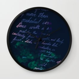 """""""Conquest of the Useless"""" by Werner Herzog Print (v. 10) Wall Clock"""