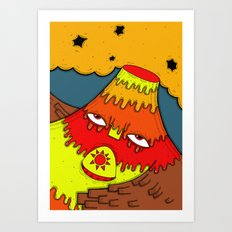 Hephaestus the Fire King Art Print