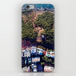 sea, forest, village iPhone Skin