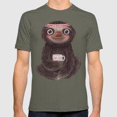 Sloth I♥yoga LARGE Lieutenant Mens Fitted Tee