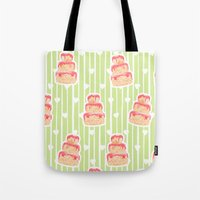 cake Tote Bags featuring Cake by Marta Li