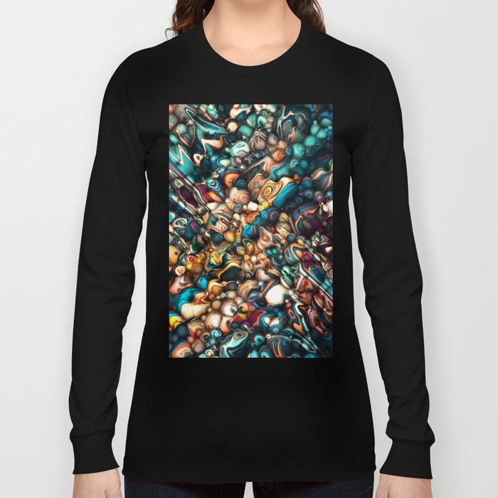 Abstract Texture And Colors Long Sleeve T-shirt