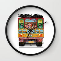 truck Wall Clocks featuring TRUCK ART by urvi