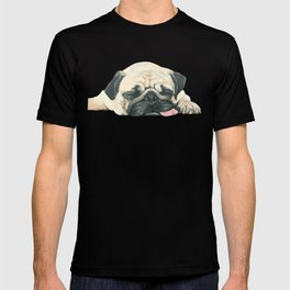 Nap Pug, Dog illustration original painting print T-shirt