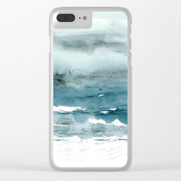 dissolving blues Clear iPhone Case