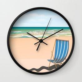vintage Beach Deck Chair Wall Clock
