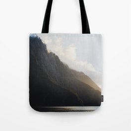 golden hour at milford sound Tote Bag