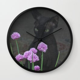 Shadow Sphynx Wall Clock