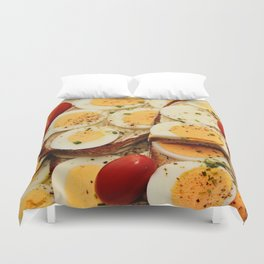 Egg Sandwich Duvet Cover