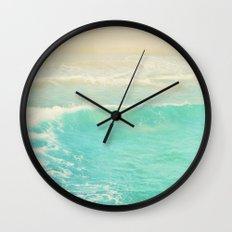 beach ocean wave. Surge. Hermosa Beach photograph Wall Clock
