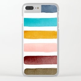 Watercolour Palette 2 Clear iPhone Case