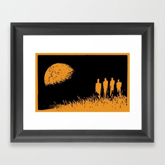 """New Moon"" by Justin Hopkins (Black Version) Framed Art Print"