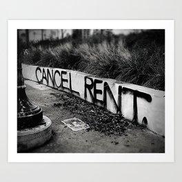 Exclusive 2020 - Cancel Rent -  Art Print
