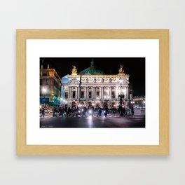 Paris Opera At Night - the Palais Garnier Framed Art Print