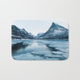 Winter in Innerdalen Bath Mat