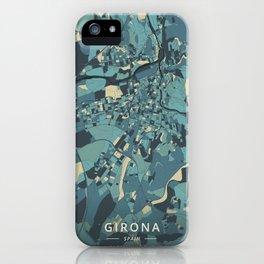 Girona, Spain - Cream Blue iPhone Case