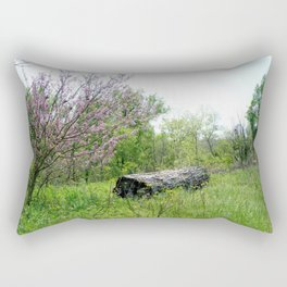Lonely Log Rectangular Pillow