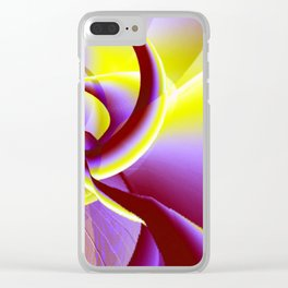Dancing to the moon Clear iPhone Case