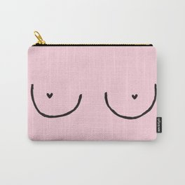 Boobs (with hearts) Carry-All Pouch