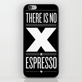No X in Espresso – Dark Grey iPhone Skin
