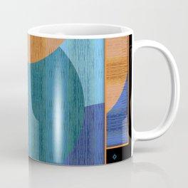 Orange Blues Geometric Shapes Coffee Mug