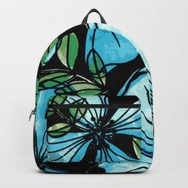 Blue flowers romantic garden Backpack