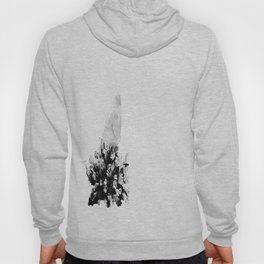 Black And White Butterfly Hoody