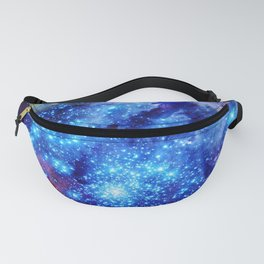 galaxy blue sparkle Fanny Pack