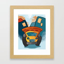 Dump Truck, Construction Truck, Perfect for Child's Bedroom or Kid's Playroom Framed Art Print