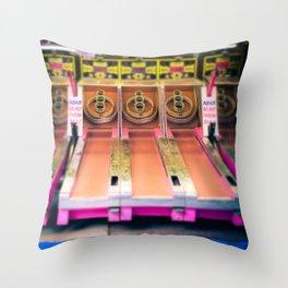 Skee Ball Blurry Photo Throw Pillow