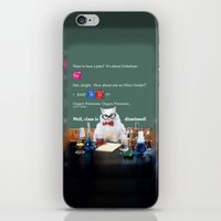 chemistry iPhone & iPod Skins featuring Chemistry Cat by Intercessor