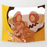 madoka magica Wall Tapestries featuring mami tomoe by Lizzie H
