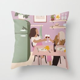 Wine & Dine Throw Pillow