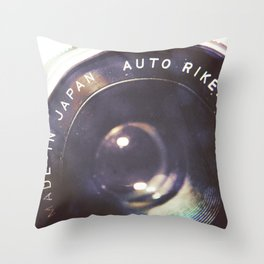 Vintage Ricoh Camera Diptych Throw Pillow